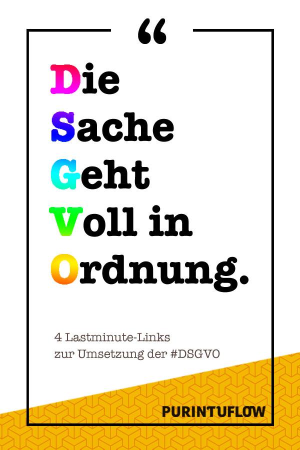 DSGVO – 4 Lastminute Links für kreative Selbstständige